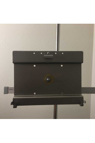 Tablet / Ipad holder, mounted with rail clamp. JB 248-19-143
