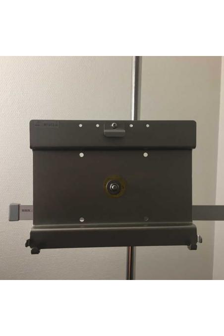 Ipad/Tablet-holder, monteret med kulisseklo. JB 248-19-143