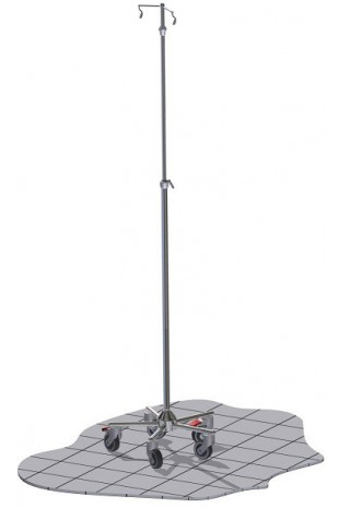"IV Pole ""Small"", One Hand telescopic solution.  JB 306-2-317-211"