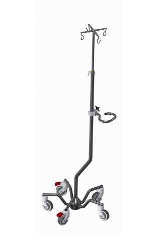 "IV Pole XXL, ""One Hand"" telescopic solution, 4 hooks. JB 332-2-320-190"