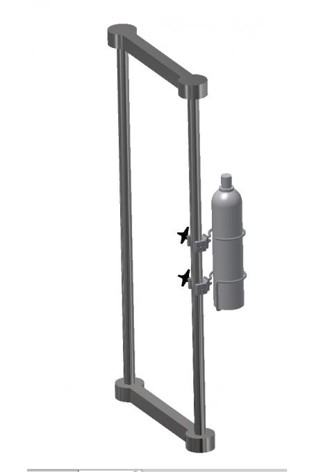 Ilt & Gas flaskeholder-bund, Ø140mm. JB 277-02-00
