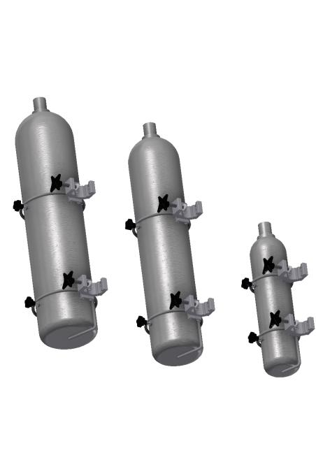 Ilt & Gas flaskeholder-bund, Ø117 mm. JB 290-02-00 af JB Medico