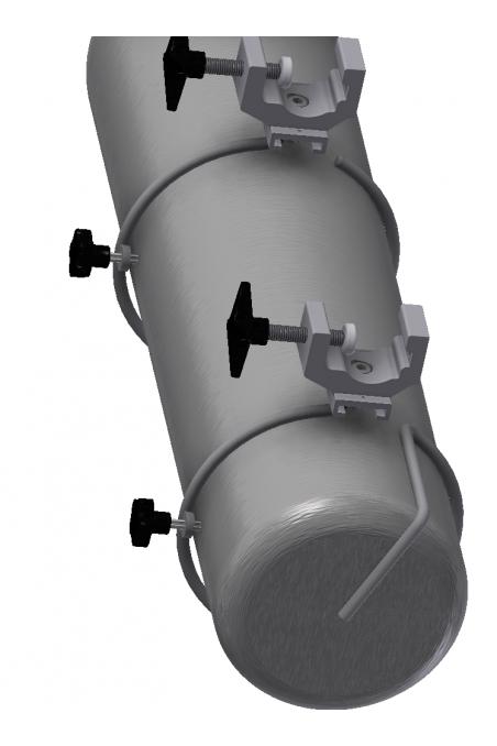 Ilt & Gas flaskeholder-bund, Ø117mm. JB 290-02-00
