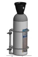 Vægbeslag, CO2 flasker, Eks. Air Liquide Ø175 mm. JB 283-01-00 af JB Medico