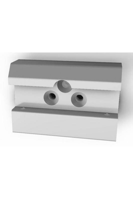 Kulisseklo, bred model, låses med 2 pinolskruer og 3 huller