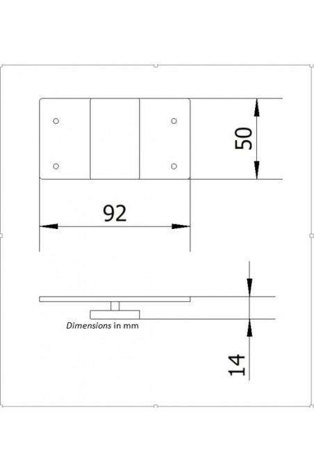 Adapter T-Slot Bracket, Soap & Alcohol Dispensers. JB 213-00-00