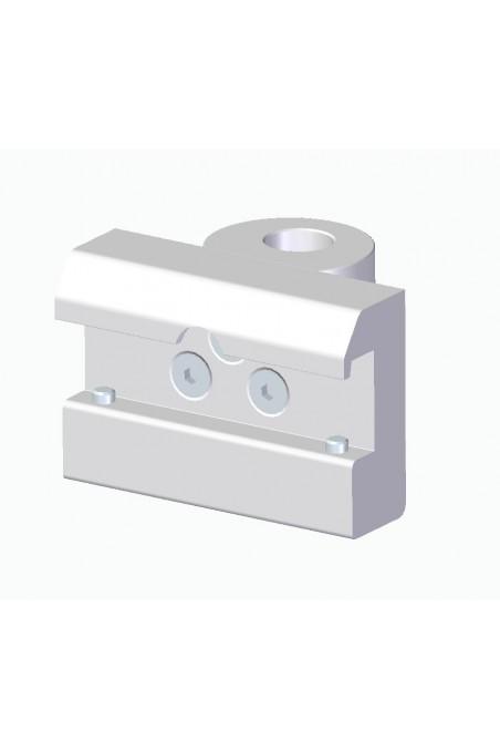 Kulisseklo, bred model, låses med to pinolskruer, adapterbeslag Ø18mm. JB 143-03-18