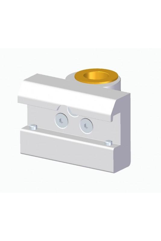 Kulisseklo, bred model, låses med 2 pinolskruer, adapterbeslag, messingbøsning & Ø20mm hul.