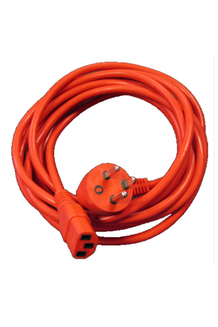 Danish hospital power cord 1,0 m, red. 1190110