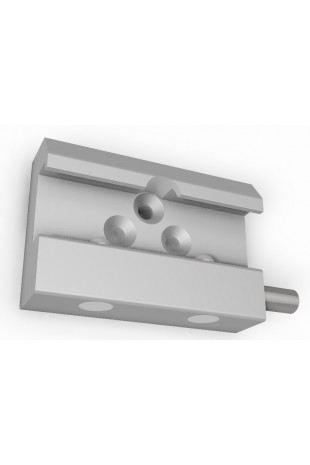 Rail Clamp, wide model with one-ball clasp and three pcs. countersunk Ø6,6mm holes. JB 144-03-00
