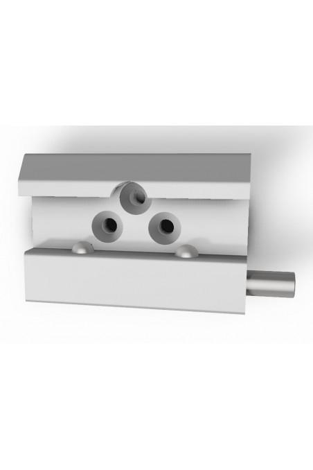 Rail Clamp, wide model, two-ball clasp, three holes, JB 144-03-00 by JB Medico
