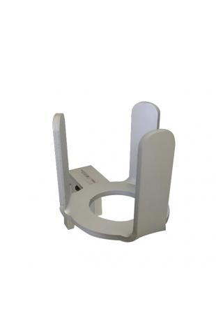 Toiletbørsteholder, aluminium, vaskbar, runde og ovale børster, JB 350-00-00