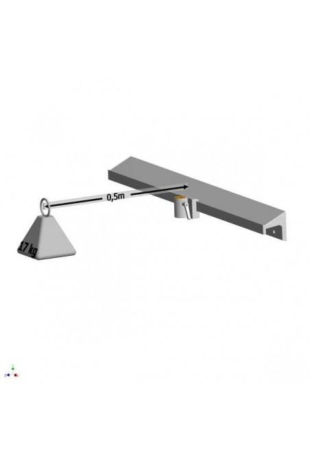 JBM Bedside Rail, hygienic design 10x30mm DK Standard, JBM 100-01-06 by JB Medico