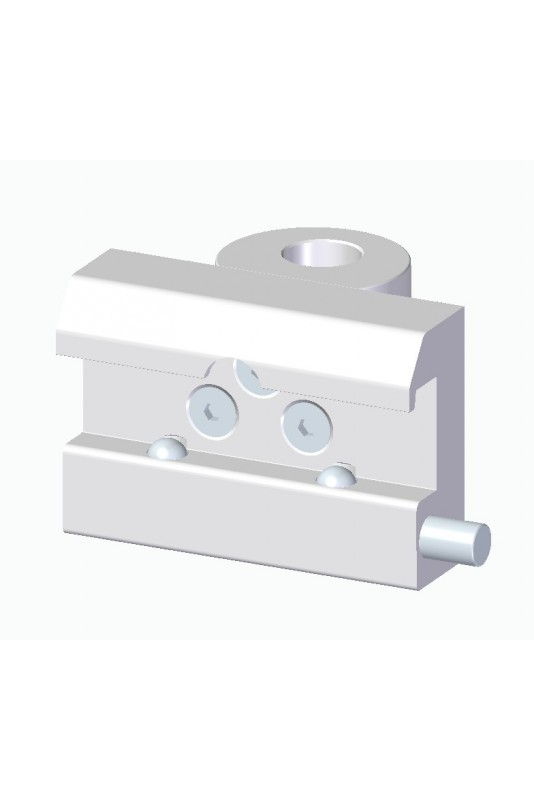 Kulisseklo, bred model, to kuglelåse og adapterbeslag & Ø18 mm hul