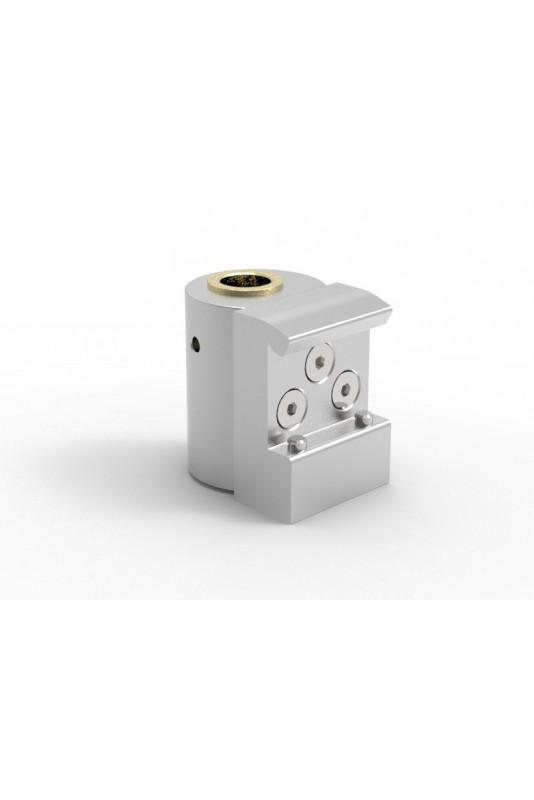 Kulisseklo, smal model, låses med 2 pinolskruer, adapterbeslag messingbøsning & Ø20mm hul, JB 216-03-20