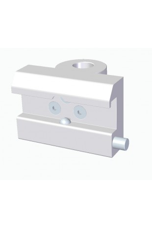 Slide clamp, wide model with one-ball clasp and fixing device, Ø18mm hole. JB 145-03-18