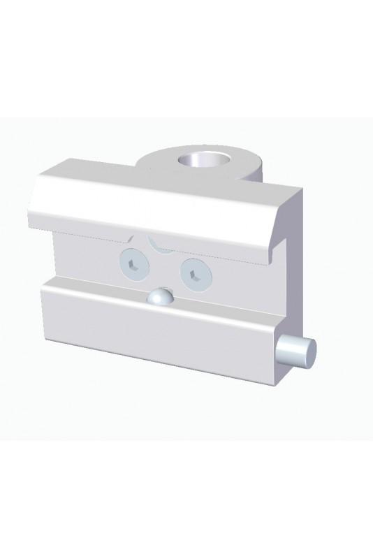 Kulisseklo, bred model, en kuglelås, adapterbeslag & Ø18mm hul